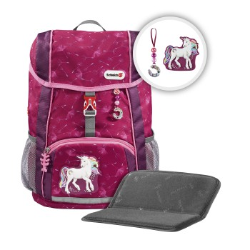 "Rucksack-Set ""KID Schleich®"", Bayala the Movie, Rainbow Unicorn, mit Sitzkissen"